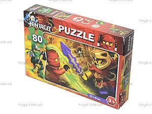 Детские пазлы с героями мультфильмов, 80 элементов, , игрушки