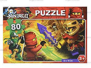 Детские пазлы с героями мультфильмов, 80 элементов, , детские игрушки