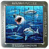 Пазлы «Акулы» магнитные 3D, 16 элементов, 21164, іграшки