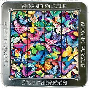 Пазлы «Бабочки» магнитные 3D, 16 элементов, 21003