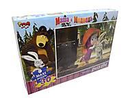 Пазлы большие «Маша и Медведь», 30 элементов, 30максиПокММ, фото