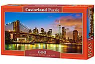 """Пазлы """"Бруклинский мост, Нью-Йорк"""", 600 элементов, В-060399"""