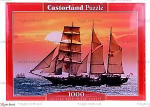 Пазл Castorland на 1000 деталей «Корабль на рассвете», 0392