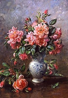 Пазл Castorland на 1000 деталей «Розы в китайской вазе», 2624