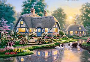 Пазл Castorland на 1000 деталей «Great Cottage Walkway, Р.Барнс», 2761