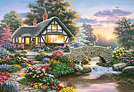 Пазл Castorland на 1000 деталей «Serenity Cottage, Р. Барнс», 2815