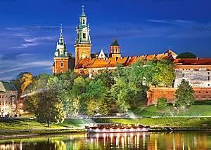 Пазл Castorland на 1000 деталей «Вавельский замок ночью. Польша», 3027