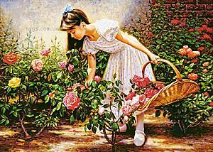 Пазл Castorland на 1000 деталей «В розовом саду», 3126, купить