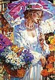Пазл Castorland на 1000 деталей «Хризантемы в саду», 3294