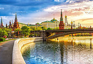 Пазл Castorland на 1000 деталей «Набережная. Москва», 3348