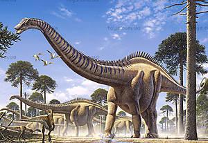 Пазл Castorland на 1000 деталей «Динозавры», С-102976