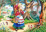Пазл Castorland 120 midi  «Красная шапочка в лесу», 12381, фото