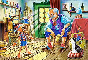 Пазл Castorland 120 midi «Пиноккио», 12404