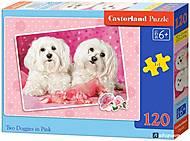 Пазл Castorland 120 midi «Два щенка», 13128, фото