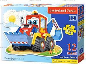 Пазл Castorland Maxi на 12 деталей «Экскаватор», 024
