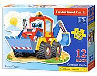 Пазл Castorland Maxi на 12 деталей «Экскаватор», 024, купить