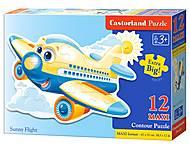 Пазл Castorland Maxi на 12 деталей «Самолет», 031, фото