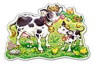 Пазл Castorland maxi на 12 деталей «Коровы на лугу», 062, фото