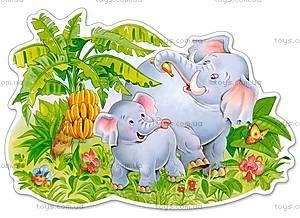 Пазл Castorland maxi на 12 деталей «Играющие слоны», 116