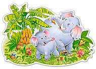 Пазл Castorland maxi на 12 деталей «Играющие слоны», В-120116