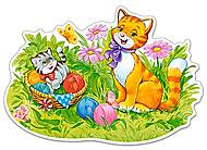 Пазл Castorland maxi на 12 деталей «Кошачья семья», 123, фото
