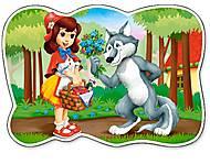 Пазлы Castorland 12maxi «Шапочка и Волк», В-120185