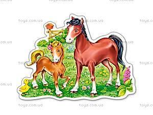 Пазл Castorland на 15 деталей «Лошадки», В-015023