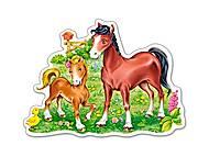 Пазл Castorland на 15 деталей «Лошадки», В-015023, купить