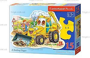 Пазл Castorland на 15 деталей «Трактор», В-015047, купить