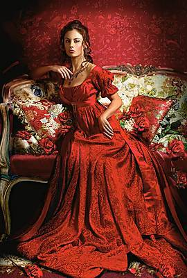Пазл Castorland на 1500 деталей «Красавица в красном», С-151370