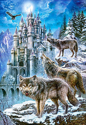 Пазл Castorland на 1500 деталей «Волки и замок», С-151141