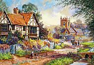 Пазл Castorland на 1500 деталей «Магия деревни», С-151196, фото