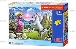 Пазл Castorland на 180 деталей «Великолепный единорог», 024, купить