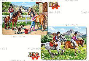 Пазл Castorland 2 в 1 «Прогулки на лошадях», В-021079