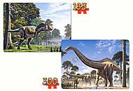 Пазл Castorland 2 в 1 «Динозавры», В-021147, фото