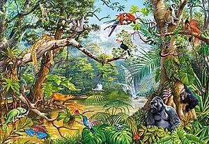 Пазл Castorland на 2000 деталей «Невидимая жизнь джунглей», 375