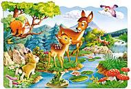 Пазл Castorland maxi на 20 деталей «Олени у ручья», С-02177, купить
