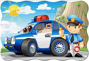 Пазл Castorland maxi на 20 деталей «Полицейский патруль», С-02252