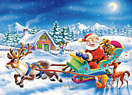Пазл Castorland на 260 деталей «Дед Мороз едет на санях», 27293, фото