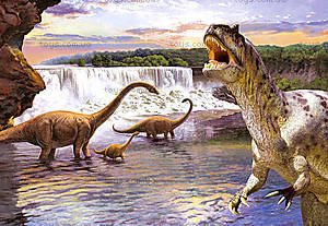 Пазл Castorland на 260 деталей «Динозавры», В-26616