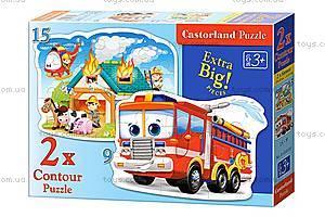 Пазл Castorland 2хContour «Пожарная бригада», 058