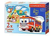 Пазл Castorland 2хContour «Пожарная бригада», 058, отзывы