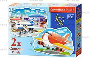 Пазлы Castorland 2хContour «Приключения в аэропорту», В-020072