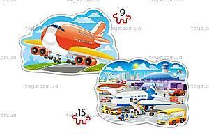 Пазлы Castorland 2хContour «Приключения в аэропорту», В-020072, фото