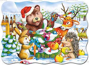 Пазл Castorland на 30 деталей «Новый год в лесу», 402