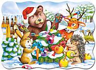 Пазл Castorland на 30 деталей «Новый год в лесу», 402, игрушки