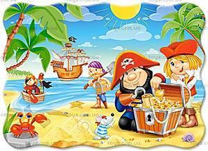Пазл Castorland на 30 деталей «Пиратские сокровища», В-03488, купить