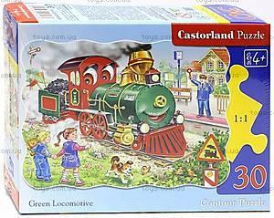 Пазл Castorland на 30 деталей «Зеленый локомотив», В-03433