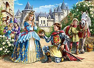 Пазл Castorland на 300 деталей «Принцесса и рыцарь», 040