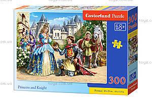 Пазл Castorland на 300 деталей «Принцесса и рыцарь», В-030040, купить